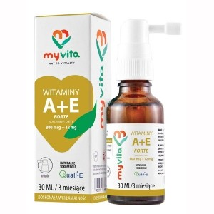 Witamina A + E FORTE 800mcg+12mg, krople, 30ml - suplement diety