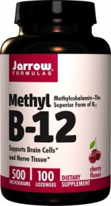 Methyl B-12 smak wiśniowy 500mcg - 100 past. do ssania - suplement diety