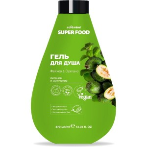 SUPER FOOD Żel pod prysznic, Feijoa i Oregano, 370 ml - CAFE MIMI