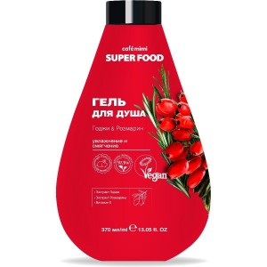 SUPER FOOD Żel pod prysznic, Goji i Rozmaryna, 370ml - CAFE MIMI