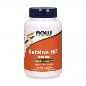 BETAINA HCL 648mg 120kaps - suplement diety