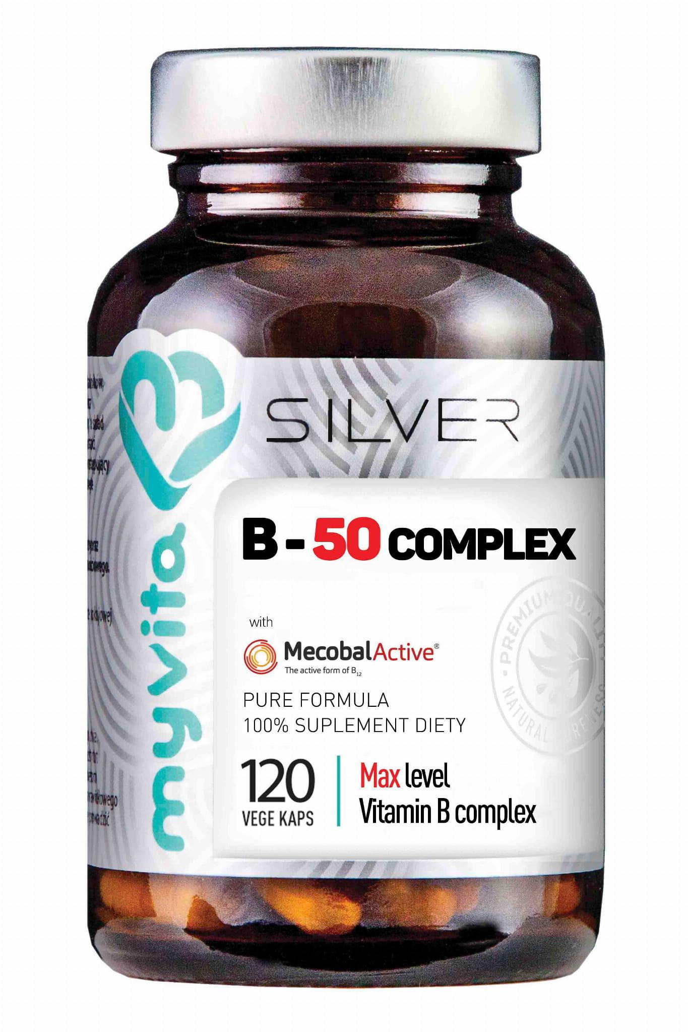 Witamina B 50 Complex Max 120kaps Silver Suplement Diety